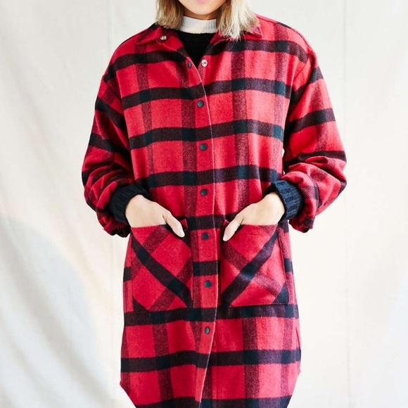 596fa134 Urban Outfitters Jackets & Coats | Red Plaid Jacket | Poshmark